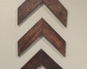 Rustic Wooden Arrows (Set of 3), Rustic Chevron Arrows