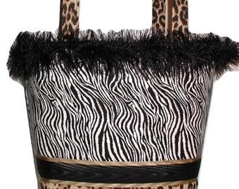Zebra Leopard Purse, Zebra Leopard Tote Bag, Zebra Toddler Tote Bag, Leopard Toddlers Tote Bag, Black Gold Tote Bag, Leopard Zebra Tote Bag