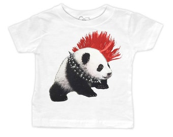 Punk Panda T-Shirt (Infant, Toddler, Youth or Adult Sizes)