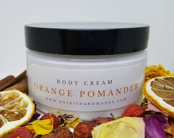 Orange Pomander - Moisturizing Body Cream - Orange Pomander Lotion - Orange Clove Cream