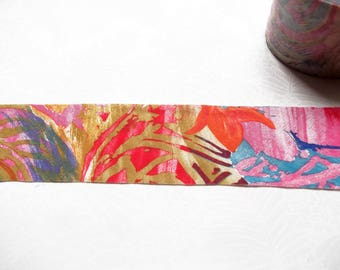3 meters Colorful flowers bias tape 62 mm / High quality