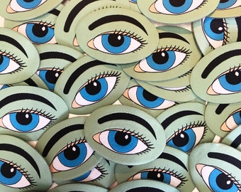 Eye Iron-on patch