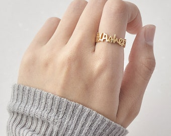 Personalized Name Ring - Kids' Names Ring - Gold Name Ring - Mother Ring With Names - Mommy Ring - Custom Name Ring - Mother's Ring