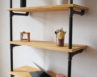 Wooden Shelf Industrial Style - STAUWERK