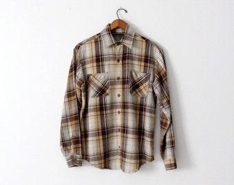 vintage 70s Big Mac flannel work shirt