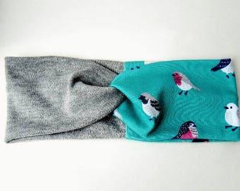 Knotted Headband - Bird Headband - Nature Lover - Yoga Headband - Headwrap - Turban Style Headband - Girls Easter Gift - Gifts for her