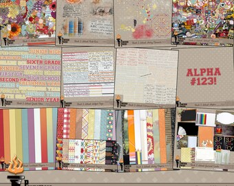 Back 2 School Scrapbook Collection