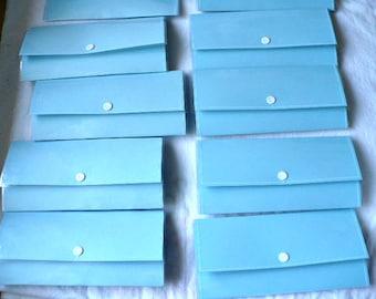 Women Wallet, Cash Envelope Wallet, Slim Wallet, Minimalist Wallet, JW Gifts, Travel Gift, Snap Wallet, Vinyl, 3.25 x 7 Inch, Hand Stitched