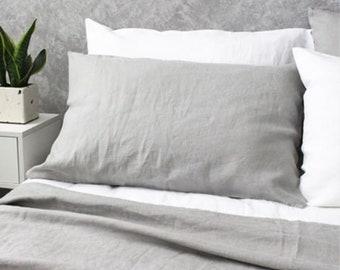 Stone Grey linen duvet cover, queen duvet cover, linen duvet, queen comforter, king comforter, queen comforter set