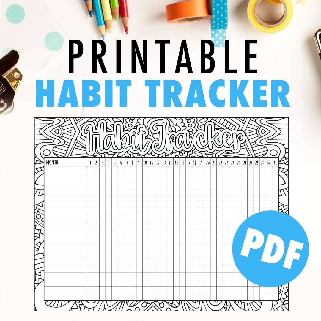 Adaptable image intended for monthly habit tracker printable