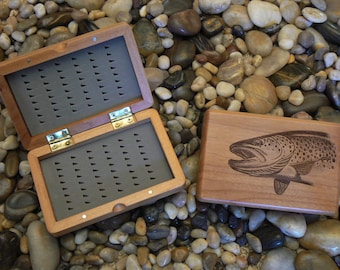 Engraved Fly Fishing Box