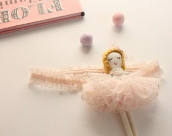 Ballerina doll baby headband