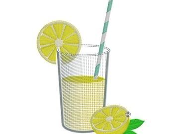 Embroidery design lemonade