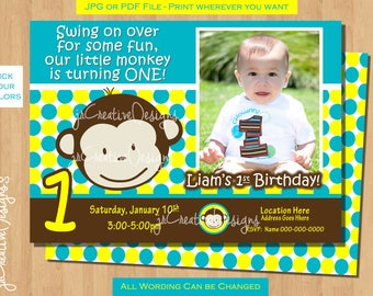 Monkey invite mod monkey invitation photo 1st birthday party monkey birthday invite monkey invitation photo 1st birthday party boy pictures invite 1 year old 1st birthday invitation boy 1 year invite stopboris