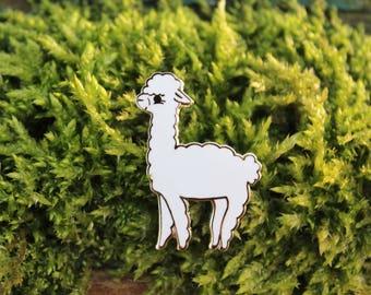 Alfalfa the Alpaca Enamel Pin