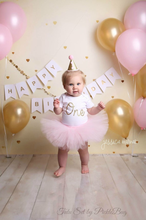 First Birthday Outfit Girl Cake Smash Outfit Girl Pink And