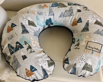 Adventure Awaits Boppy Cover, Adventure boppy cover, Personalized boppy covers, Nursing pillow covers, Boy Boppy Covers