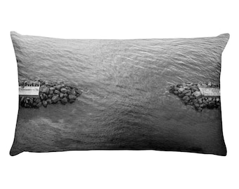 Echoing Water in Capri Island Throw Cushion / Pillow, 1:100 Limited Edition