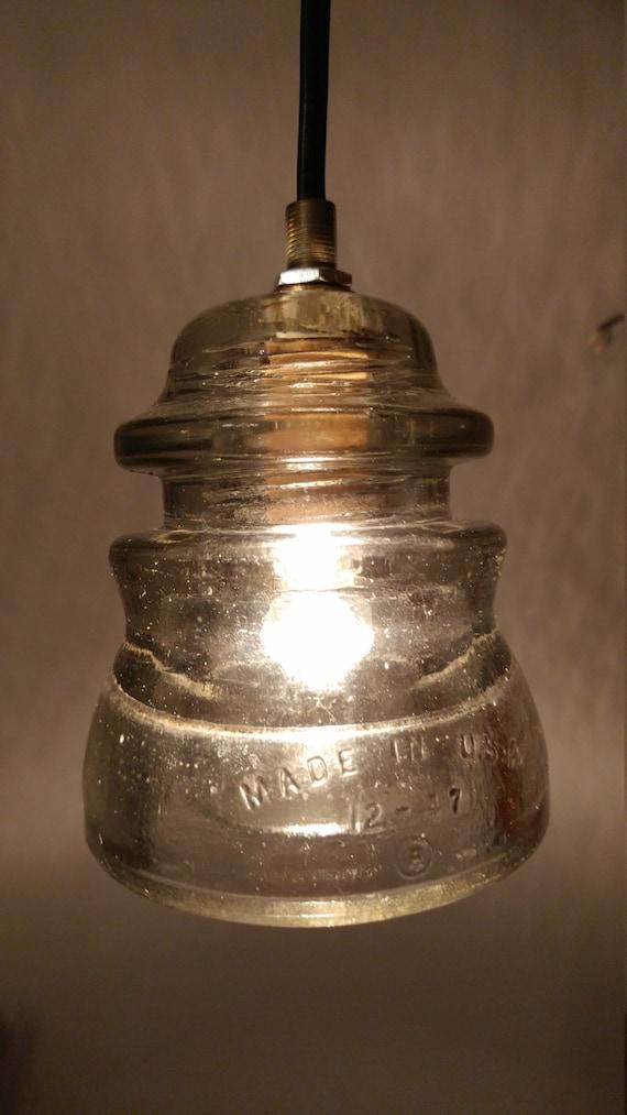 Glass Insulator Light