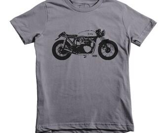 Motorcycle Kids T Shirt, Vintage Bike Toddler Top, Motorcycle Youth Tshirt, Custom Kids T Shirt, Trendy Kids, Personalized Motorbike Gift