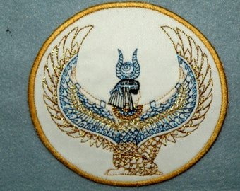 Egyptian Goddess Isis Iron on Patch 4.55 x 4.27""