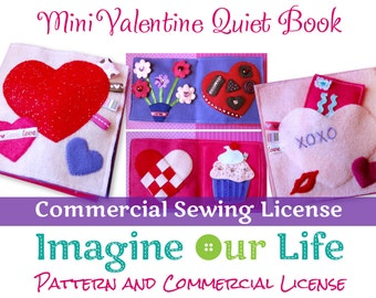 Mini Valentine Quiet Book Commercial License