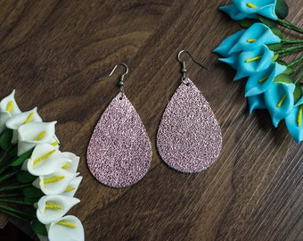 Leather Earrings Teardrop Leather Earring