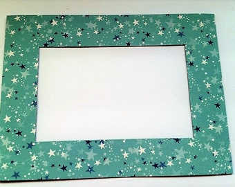 Stars Refrigerator Photo Frame Magnet.  Fits a 4x6 Picture.  Magnetic Picture Frame.