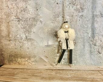 French doll pendant necklace, faux fur doll pendant, faux fur fun, Italian doll necklace, Parisian doll necklace, Ellie's Belles: Nanette