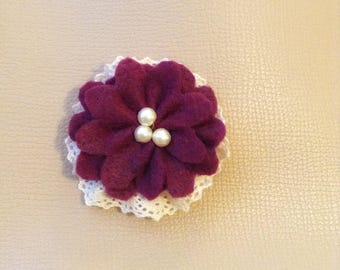 The Elizabeth - Flower Felt Clip