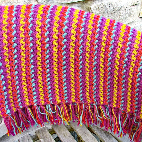 Crochet Blanket Pattern Crochet Throw Crochet Lap Blanket