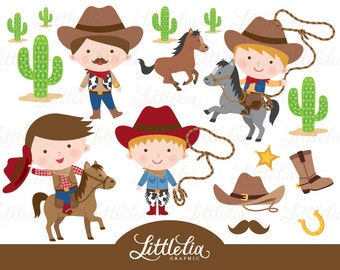 Cowboy clipart - wild west cowboy clipart - 15027