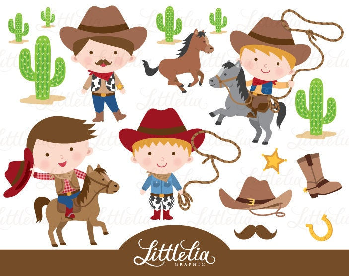 cowboy clipart wild west cowboy clipart 15027 rh etsy com wild west clipart free old west clipart