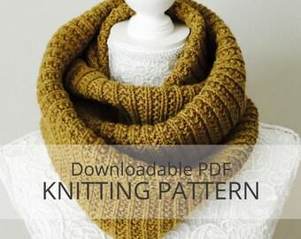 BIRCHY LAKE infinity cowl [downloadable PDF knitting pattern]