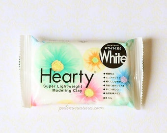 Hearty Clay (White) - Extra Light Weight Modelling Clay - No Bake Clay