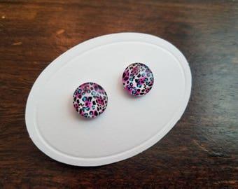 Teal Animal Print Earrings