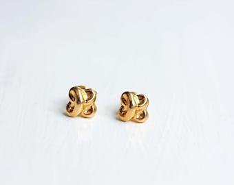 Gold Knot Studs, Knot Studs, Love Knot Studs, Round Knot Studs, Rounds Studs, Nautical Studs, Small Gold Studs, Gold Studs, Small Studs