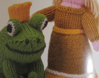 Handmade Knitted The Frog Prince, Part Of The Story Book Collection (New, Made To Order) 3+