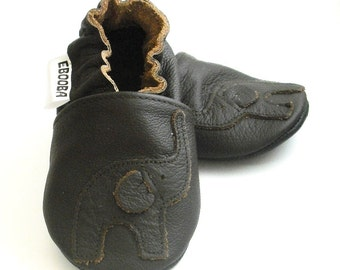 soft sole baby shoes infant handmade elephant dark brown 2 3 y bebe garcon fille chaussons cuir souple pour chaussures ebooba EL-37-DB-T-5