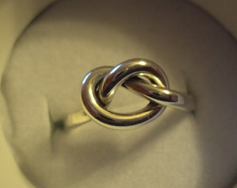 14g thick, 1.6mm , argentium sterling silver, love knot, single knot