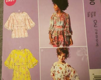McCall's 6690, Girl's Top, Belt, and Dress Pattern