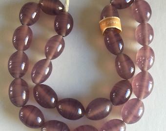 Vintage Japanese Oval Glass Beads - Cherry Brand