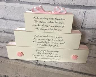 Grandmother Poem Gift Plaque Stack