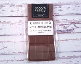 Milk Chocolate Bar. Handmade from Belgian chocolate.