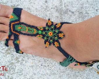 Sandals, woman sandals, macrame sandals, macrame sandals, natural footwear, custom made Espadrille, cotton, Coton natural vegan sandals