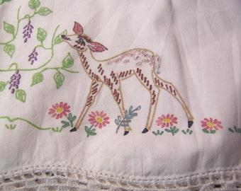 adorable little deer pillowcase