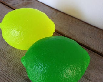 Zesty lemon Soap or Zesty lime - Large 5.20 oz each - Scented with lemon essential oil - Lime essential oil
