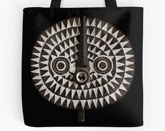 African Art Tote Bag - Featuring Exclusive Bobo Bwa Sun Mask Design
