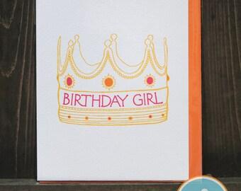 Birthday Girl - Birthday Card