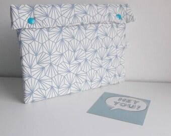 Diaper clutch, pouch layers - blue